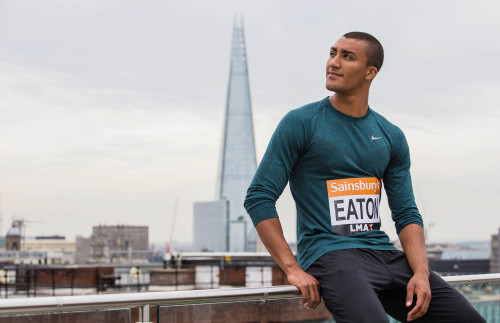 140719, Friidrott, Infšr Sainsbury's Anniversary Games: Athletics - Sainsbury's Anniversary Games Preview Press Conference - Grange St Paul's Hotel, London - 19/7/14 USA's Ashton Eaton poses ahead of the Sainsbury's Anniversary Games Mandatory Credit: Action Images / Steven Paston Livepic EDITORIAL USE ONLY. © BildbyrŒn - COP 7 - SWEDEN ONLY