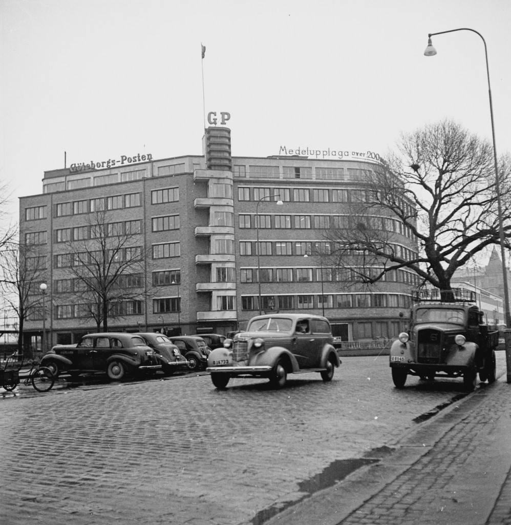 Göteborg december 1947 G-P:huset *** Local Caption *** GP