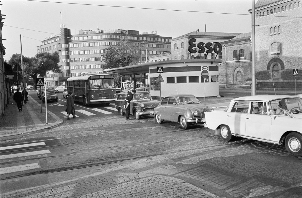 Gšteborg 13 september 1969 Trafik pŒ Polhemsplatsen *** Local Caption *** GP sep1969_3543